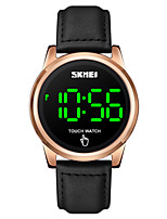 cheap -SKMEI Men's Digital Watch Digital Stylish LED Light Digital Rose Gold Black Gold / One Year / Leather