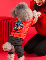 cheap -Dog Cat Coat Sweatshirt Dog clothes Dragon Animal Fashion Chinoiserie Cute Casual / Daily Spring Festival Dog Clothes Puppy Clothes Dog Outfits Breathable Red Costume for Girl and Boy Dog Polyester