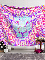 cheap -Wall Tapestry Art Decor Blanket Curtain Hanging Home Bedroom Living Room Decoration Polyester Colored Lion Haircut