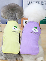 cheap -Dog Cat Shirt / T-Shirt Vest Print Basic Adorable Cute Dailywear Casual / Daily Dog Clothes Puppy Clothes Dog Outfits Breathable 21 Embroidered Puppy Vest-Pink 21 Embroidered Puppy Vest-Yellow 21