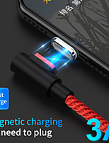 cheap -Micro USB USB C Cable Magnetic Data Transmission Phone Charger 3 A TPE For Xiaomi MI Samsung Huawei Phone Accessory