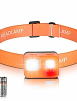 cheap -led headlamp very bright mini lightweight practical headlamps with red light and flashing light, 8 modes for running, jogging, camping, fishing, reading, walking, walking (incl. 3 aaa energizer