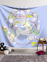 cheap -Wall Tapestry Art Decor Blanket Curtain Hanging Home Bedroom Living Room Decoration Polyester Blue Unicorn