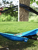 cheap -Camping Hammock Outdoor Wearable Travel Folding Nylon with Carabiners and Tree Straps for 1 person Camping Blue 260*140 cm