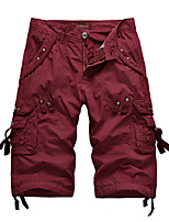 """cheap -Men's Hiking Shorts Hiking Cargo Shorts Military Summer Outdoor 12"""" Ripstop Multi Pockets Breathable Sweat wicking Cotton Knee Length Bottoms Dark Grey Army Green Burgundy Black Light Grey Work"""