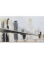 cheap -100% Hand Painted Abstract Bridge Canvas Oil Paintings Modern Art Abstract Stretched Abstract Artwork Ready to Hang