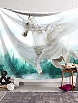 cheap -Wall Tapestry Art Decor Blanket Curtain Hanging Home Bedroom Living Room Decoration Polyester Unicorn Travelling in the Woods