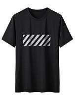cheap -Men's T shirt Hiking Tee shirt Short Sleeve Crew Neck Tee Tshirt Top Outdoor Lightweight Breathable Quick Dry Soft Summer Nylon Chinlon White Black Blue Fishing Climbing Running