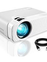 cheap -Projector YJ333 Portable Projector with Full HD 1080p 180 Display and 50000 Hours Lamp Life LED Video Projector Compatible with USB/HDMI/SD/AV/VGA for Home Theater White