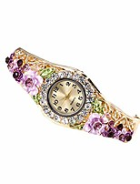 cheap -Watches for Girls,Analog Quartz Movement Wrist Watch Diamond Bracelet Watch(Purple)