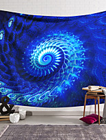 cheap -Wall Tapestry Art Decor Blanket Curtain Hanging Home Bedroom Living Room Decoration Polyester Blue Object Rotating