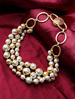cheap -Pearl Necklace Women's Layered Pearl Imitation Pearl Lucky Statement Cute Cute White 42 cm Necklace Jewelry 1pc for Wedding Engagement irregular