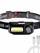 cheap -Headlamp, rechargeable led headlamp flashlights, adjustable and comfortable for children and adults with 6 lighting modes, easy to use, perfect for running, camping