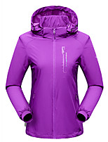 cheap -Women's Hiking Jacket Hiking Windbreaker Outdoor Solid Color Waterproof Lightweight Windproof Breathable Jacket Top Hunting Fishing Climbing Purple Blue Rose Red / Quick Dry