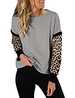 cheap -Women's Sweatshirt Sweater Pullover Leopard Print Crew Neck Leopard Sport Athleisure Sweatshirt Top Long Sleeve Breathable Soft Comfortable Everyday Use Casual Daily Outdoor