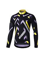 cheap -Men's Long Sleeve Downhill Jersey Black / Yellow Black / Blue Bike Jersey Sports Clothing Apparel