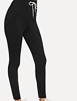 cheap -Women's Sports Leggings Sweatpants Pants Plain Full Length Black