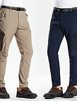 cheap -Men's Hiking Pants Trousers Solid Color Outdoor Windproof Breathable Quick Dry Wear Resistance Elastane Bottoms Black Khaki Dark Navy Coffee Hunting Fishing Climbing S M L XL XXL / Zipper Pocket