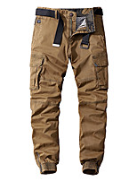cheap -Men's Hiking Pants Trousers Hiking Cargo Pants Solid Color Outdoor Breathable Anti-tear Multi-Pockets Wear Resistance Cotton Bottoms Black Army Green Dark Gray Khaki Dark Blue Hunting Fishing Climbing