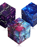 cheap -Speed Cube Set 3 pcs Magic Cube IQ Cube Infinity Cubes Magic Cube Sensory Fidget Toy Puzzle Cube Stress and Anxiety Relief Office Desk Toys Decompression Toys Starry Sky Kid's Adults' Toy Gift