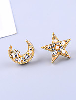cheap -Women's Earrings Briolette Moon Star Vintage Classic Earrings Jewelry Gold For Party Daily Festival 1 Pair