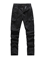 cheap -Men's Hiking Pants Trousers Hiking Cargo Pants Solid Color Winter Outdoor Breathable Stretchy Anti-tear Wear Resistance Cotton Bottoms Black Army Green Dark Gray Khaki Dark Blue Hunting Fishing