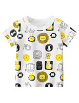 cheap -Toddler Little Boys Short Sleeve Lion Graphic T-Shirts Top Tee Size for 3-7 Years