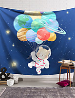 cheap -Wall Tapestry Art Decor Blanket Curtain Hanging Home Bedroom Living Room Decoration Polyester Little Bear Holding a Balloon