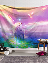 cheap -Wall Tapestry Art Decor Blanket Curtain Hanging Home Bedroom Living Room Decoration Polyester White Horse Wings Wonderland