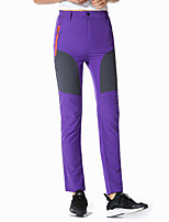cheap -Women's Hiking Pants Trousers Patchwork Outdoor Lightweight Breathable Comfort Quick Dry Bottoms Black Purple Army Green Khaki Rose Red Hunting Fishing Climbing S M L XL XXL