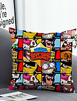 cheap -1 Pc Cushion Cover with or without Pillow Insert Double Side Print Cartoon Character 38x38cm / 45x45cm Polyester