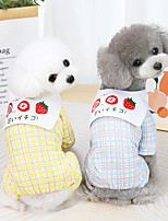 cheap -Dog Cat Shirt / T-Shirt Fruit Basic Adorable Cute Dailywear Casual / Daily Dog Clothes Puppy Clothes Dog Outfits Breathable Yellow Blue Costume for Girl and Boy Dog Cotton S M L XL XXL