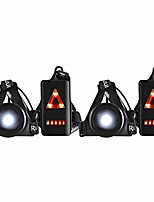 cheap -Running night lamp, waterproof outdoor sports USB charge jogging chest light 3 lighting modes with detachable fastening strap (2 pack)