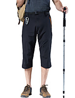 cheap -Men's Hiking Shorts Solid Color Outdoor Windproof Breathable Quick Dry Stretchy Nylon Capri Pants Bottoms Black Grey Khaki Green Hunting Fishing Climbing S M L XL XXL / Zipper Pocket