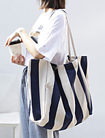 cheap -Women's Bags Canvas Crossbody Bag Pattern Vertical Stripes Striped Daily Going out Black Grey Watermelon Red Black Blue