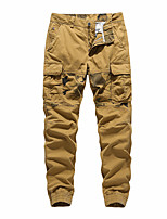 cheap -Men's Hiking Pants Trousers Hiking Cargo Pants Solid Color Outdoor Breathable Anti-tear Multi-Pockets Wear Resistance Cotton Bottoms Army Green Khaki Brown Dark Blue Hunting Fishing Climbing 28 29 30
