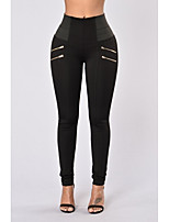 cheap -Women's Casual / Sporty Streetwear Comfort Sports Sport Yoga Leggings Pants Plain Full Length White Black Red Wine Gray