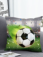 cheap -Cushion Cover with or without Pillow Insert Double Side Print 38x38cm / 45x45cm Polyester Football Game