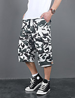 cheap -Men's Hiking Shorts Camo Summer Outdoor Breathable Multi-Pockets Wear Resistance Scratch Resistant Cotton Capri Pants White Black Yellow Camouflage Blue Hunting Fishing Climbing M L XL XXL XXXL