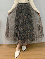 cheap -Women's Date Vacation Streetwear Sophisticated Skirts Leopard Layered Pleated Print Black Beige Gray