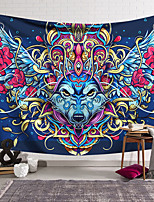 cheap -Wall Tapestry Art Decor Blanket Curtain Hanging Home Bedroom Living Room Decoration Polyester Wolf Head Eagle Helmet
