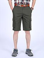 cheap -Men's Hiking Shorts Hiking Cargo Shorts Outdoor Waterproof Breathable Comfortable Sweat-Wicking Cotton Shorts Black Army Green Climbing Camping / Hiking / Caving Traveling 30 35 36 38 31