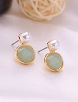 cheap -Women's Hoop Earrings Retro Lucky Vintage Classic Imitation Pearl Earrings Jewelry Blue For Party Daily 1 Pair