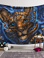 cheap -Wall Tapestry Art Decor Blanket Curtain Hanging Home Bedroom Living Room Decoration Polyester Cute Tiger Cat