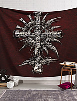 cheap -Wall Tapestry Art Decor Blanket Curtain Hanging Home Bedroom Living Room Decoration Polyester Cross Badge Skull