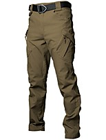 cheap -Men's Hiking Pants Trousers Hiking Cargo Pants Tactical Pants Solid Color Outdoor Windproof Breathable Multi-Pockets Wear Resistance Cotton Bottoms Black Grey Khaki Green Brown Hunting Fishing