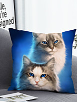 cheap -Cushion Cover with or without Pillow Insert Double Side Print 38x38cm / 45x45cm Polyester Double Cats Ragdoll