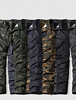 cheap -Men's Hiking Pants Trousers Hiking Cargo Pants Solid Color Outdoor Breathable Anti-tear Wear Resistance Scratch Resistant Cotton Bottoms Black Army Green Dark Gray Khaki Dark Blue Hunting Fishing