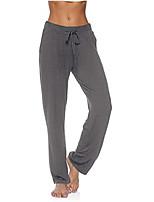 cheap -Women's Casual / Sporty Yoga Comfort Sports Weekend Sweatpants Pants Plain Full Length Drawstring Pocket Black Wine Gray