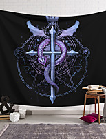 cheap -Wall Tapestry Art Decor Blanket Curtain Hanging Home Bedroom Living Room Decoration Polyester Purple Snake Cross Badge